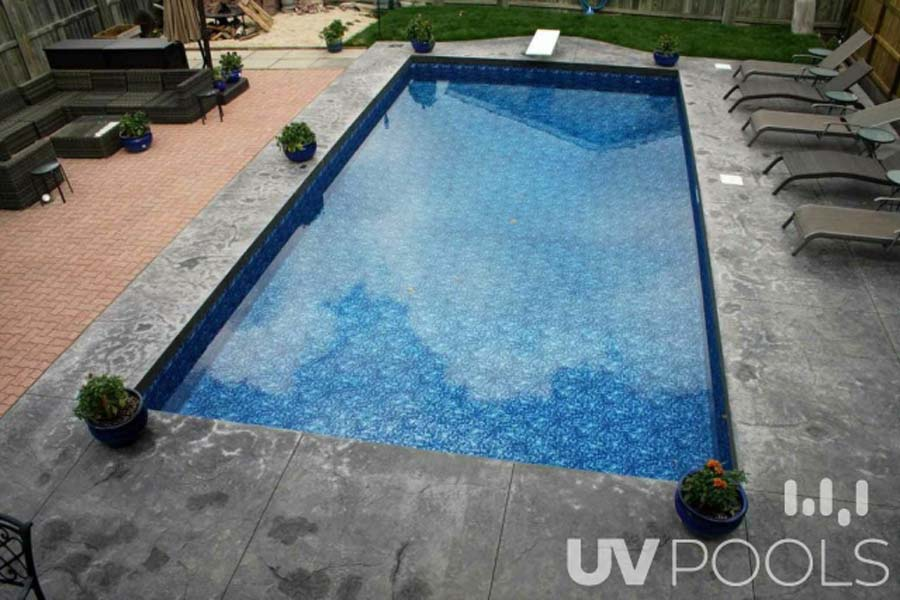 Stamped Concrete Pool Coping Renovation